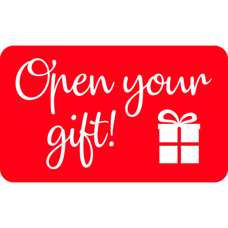 Open your gift - sticker