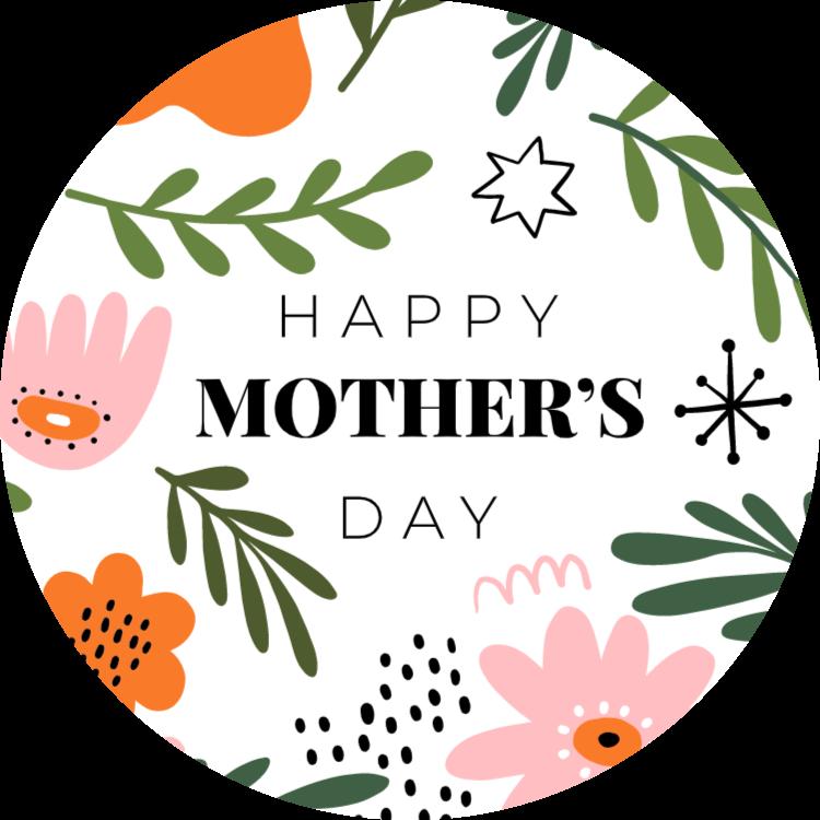 Happy Mother's Day - round sticker