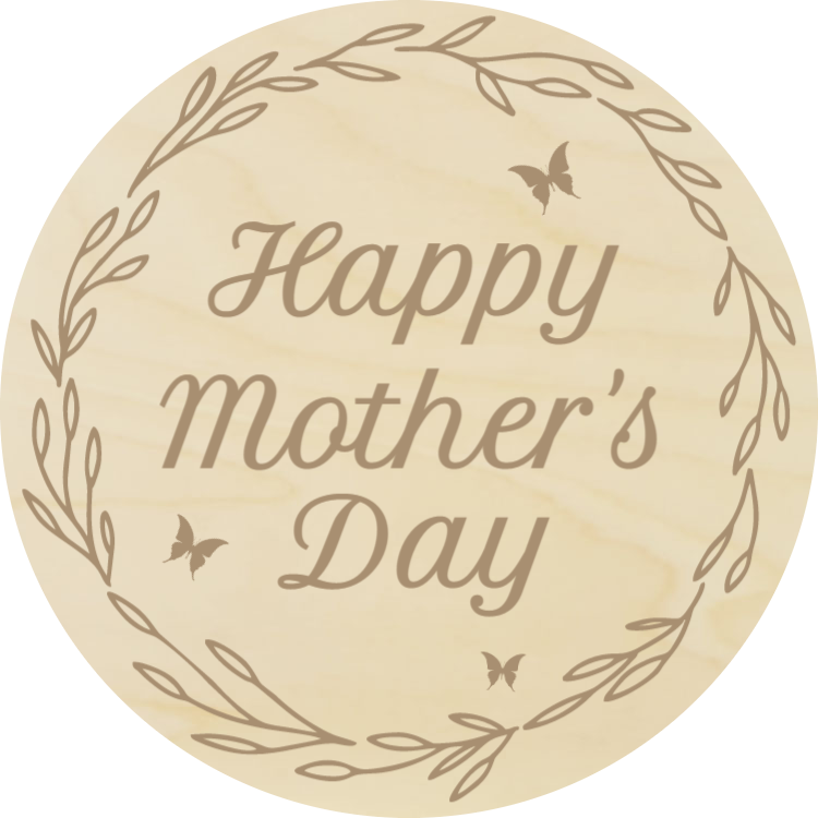 Happy Mother's Day - Wood coaster