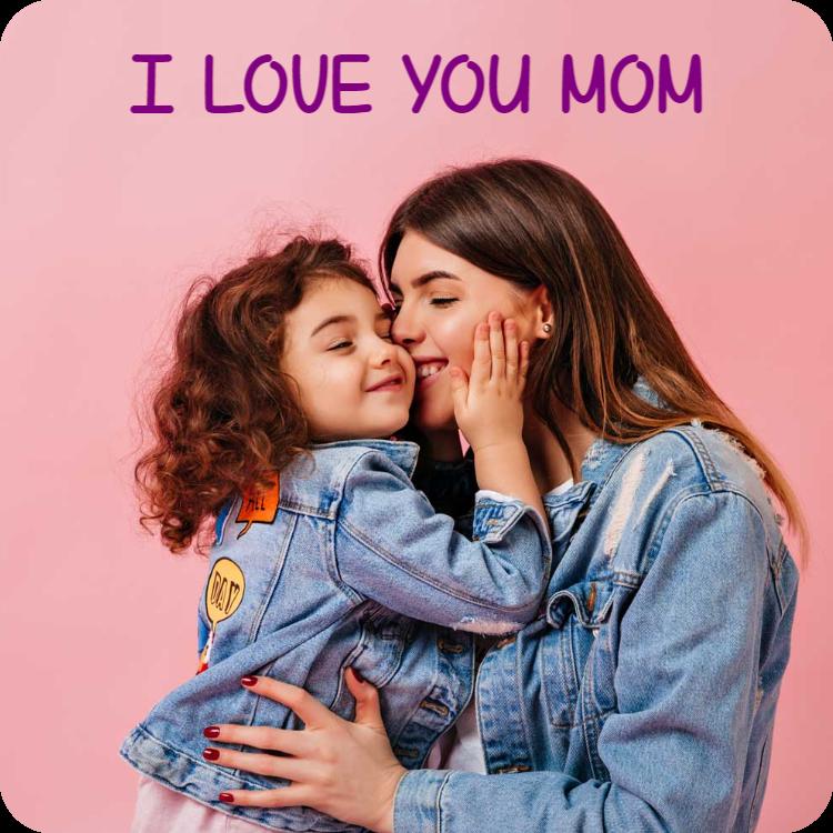 I love you mom - Fridge magnet