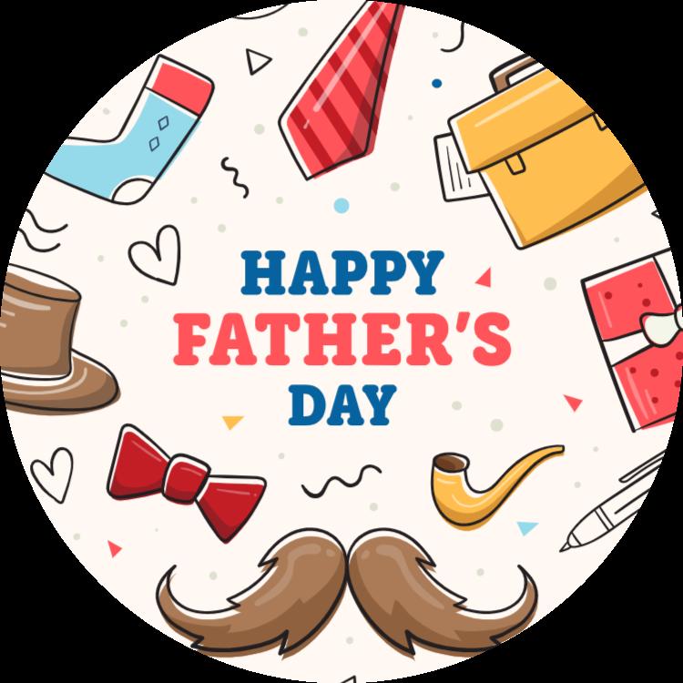 Happy Father's Day - round sticker