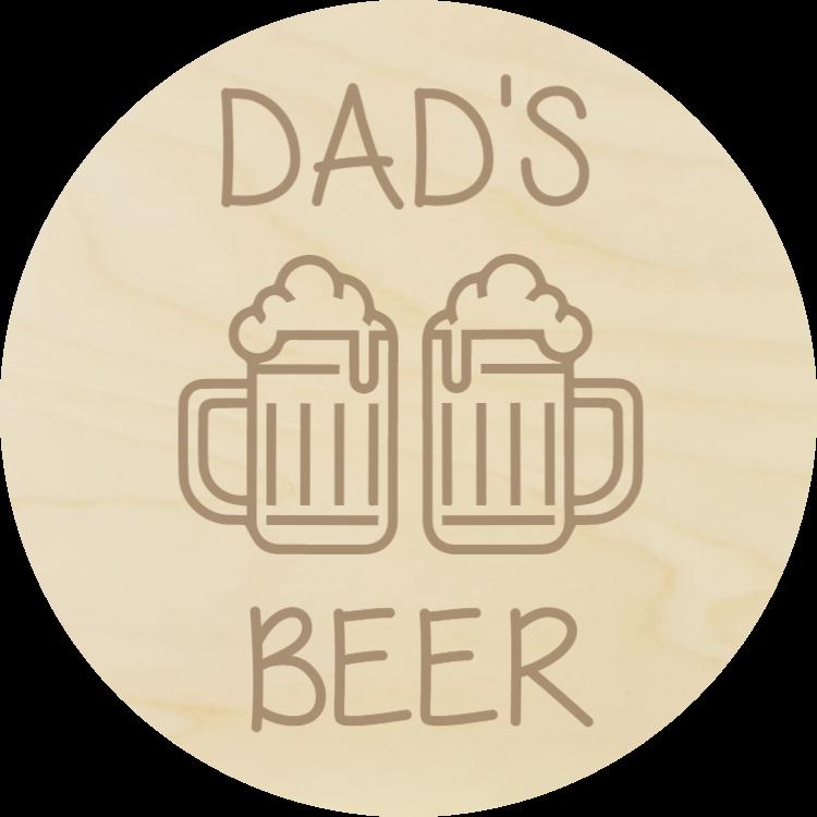 Dad's beer - wood coaster