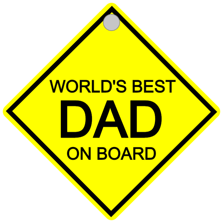 Car sign - dad on board