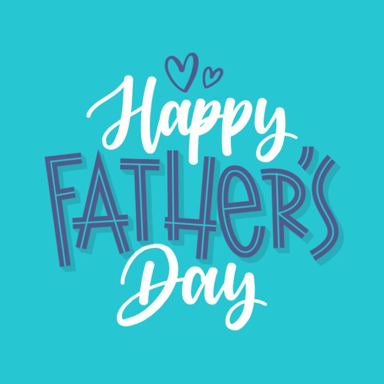 Happy Father's Day - square sticker