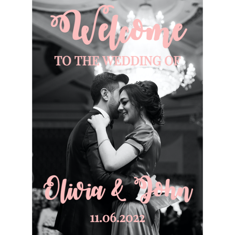 Welcome Wedding Sign with Photo
