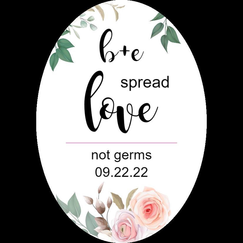 Sticker hand sanitizer - spread love