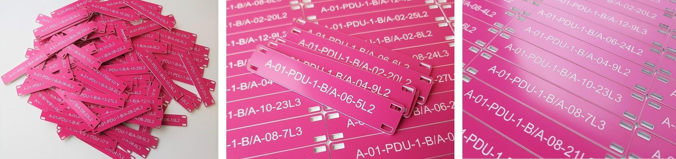 Engraved Plastic Marks