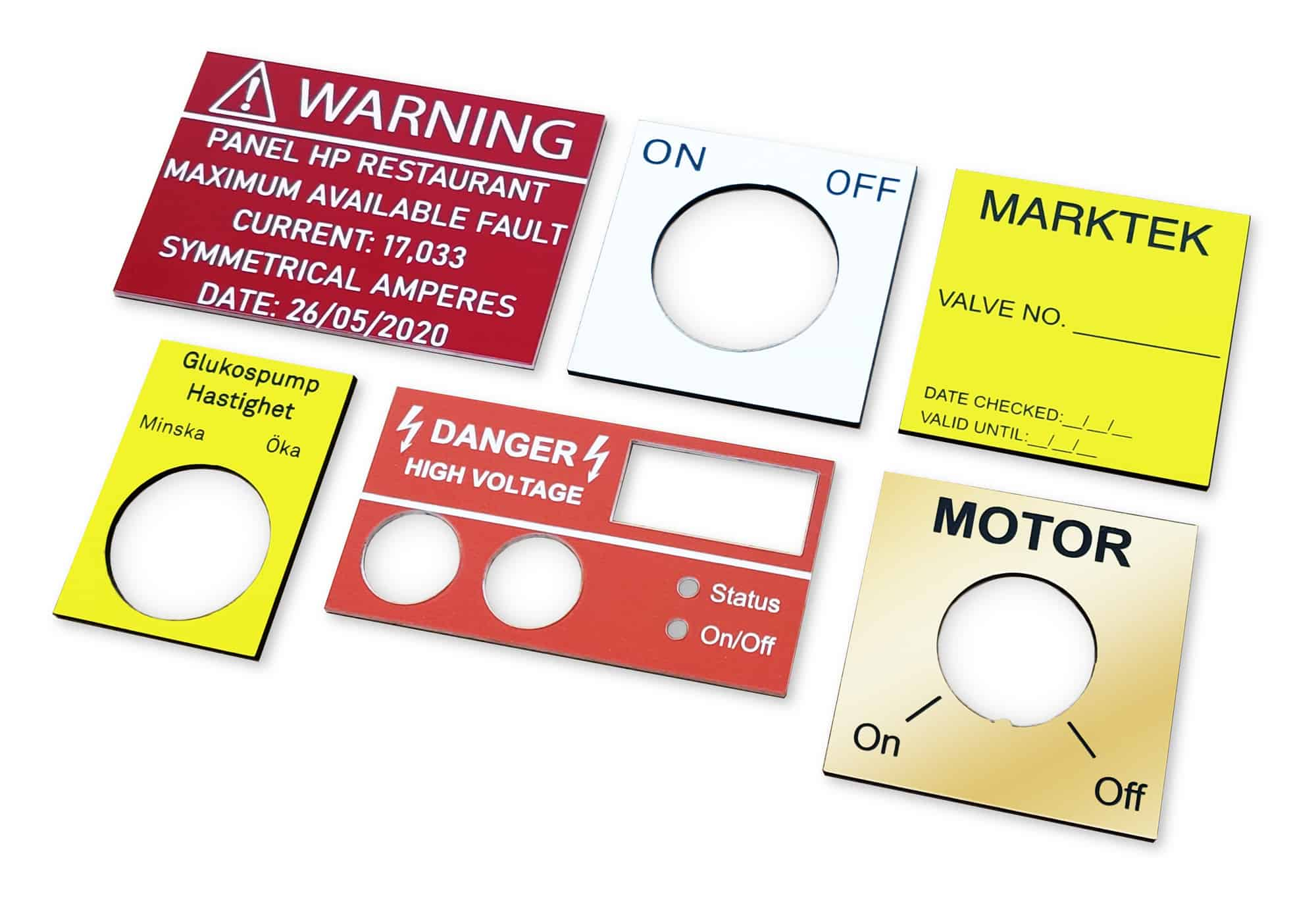 Industrial Plastic Signs