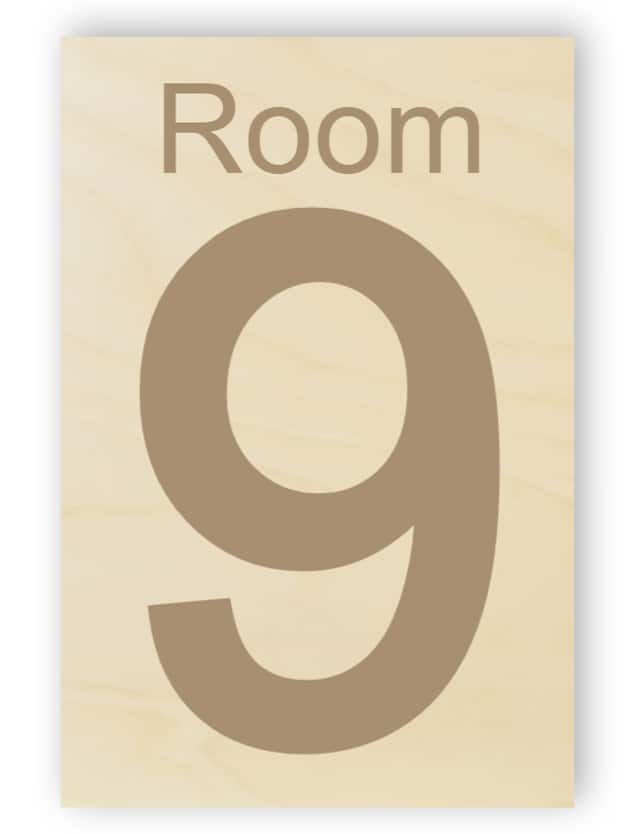 Wooden Room Number