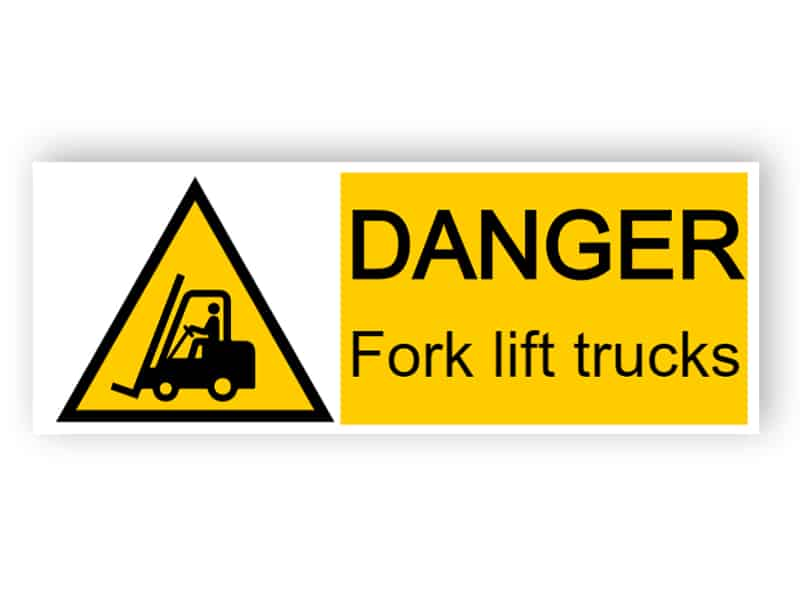 Danger - forklifts operating