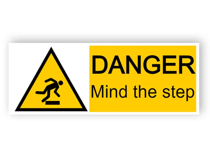 Danger - mind the step
