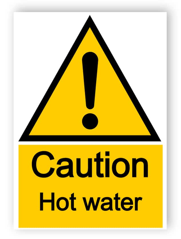 Caution - Hot Water