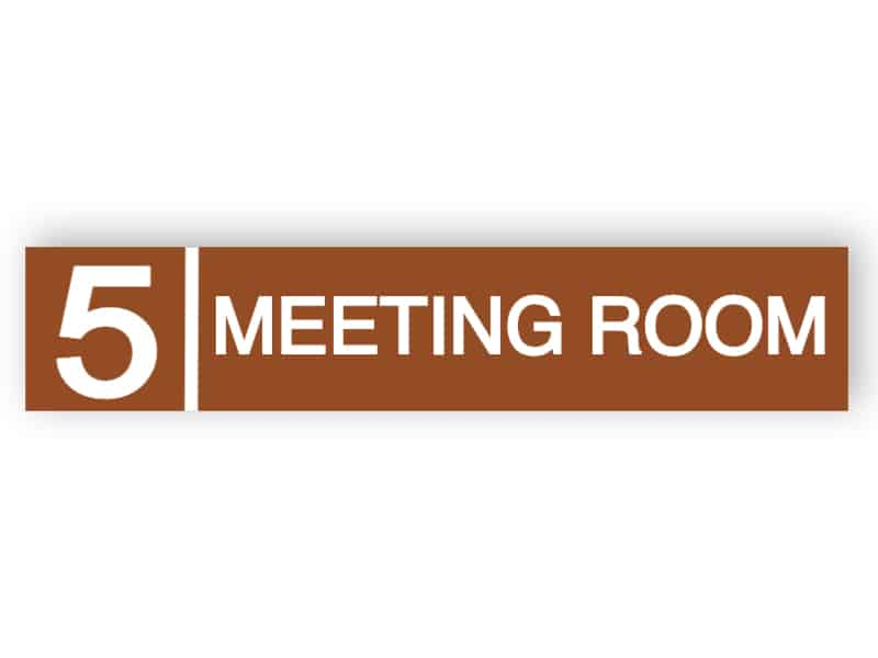 Meeting room door sign