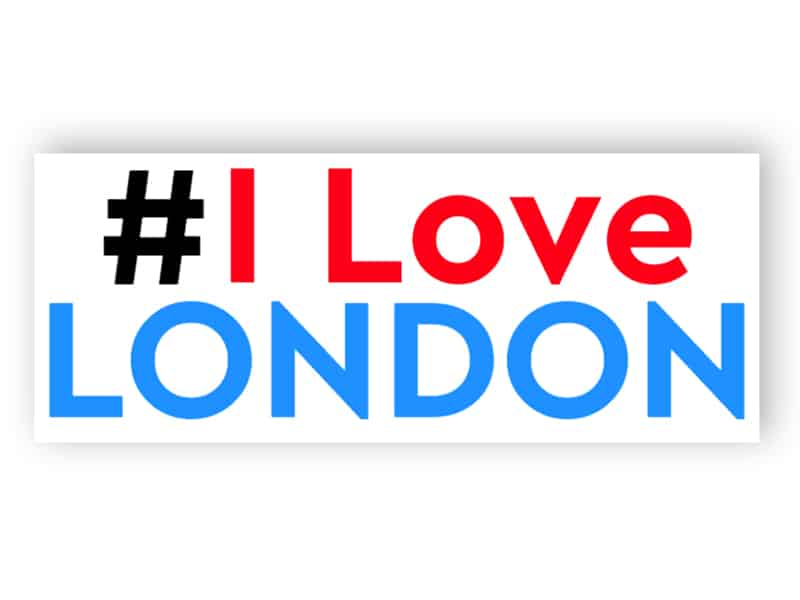 I love London sign