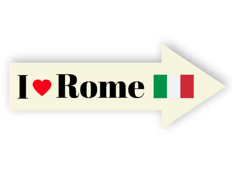 I love Rome sign - sticker