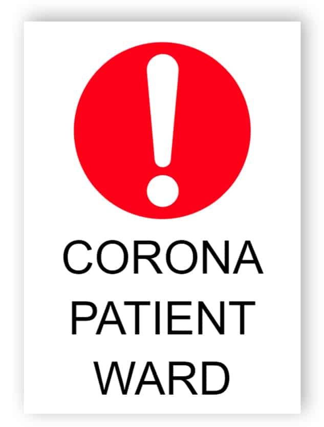 Corona patient ward - sticker