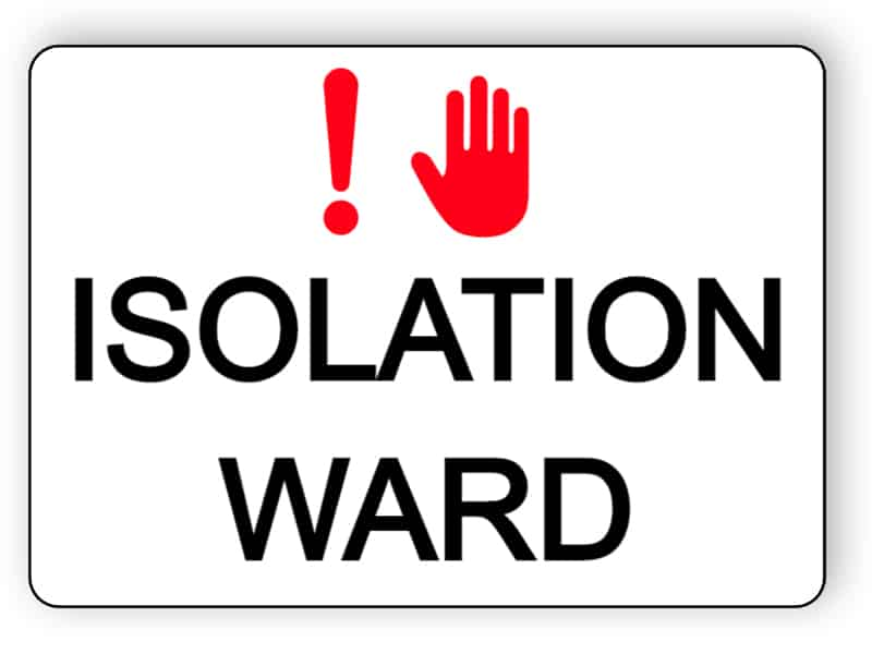 Isolation ward - sticker