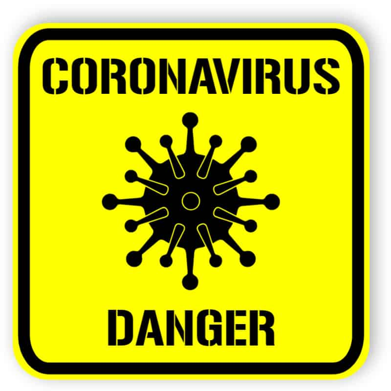 Coronavirus - danger - sticker