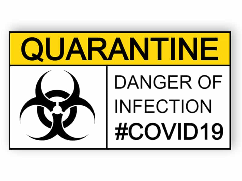 Quarantine - danger of infection - sticker