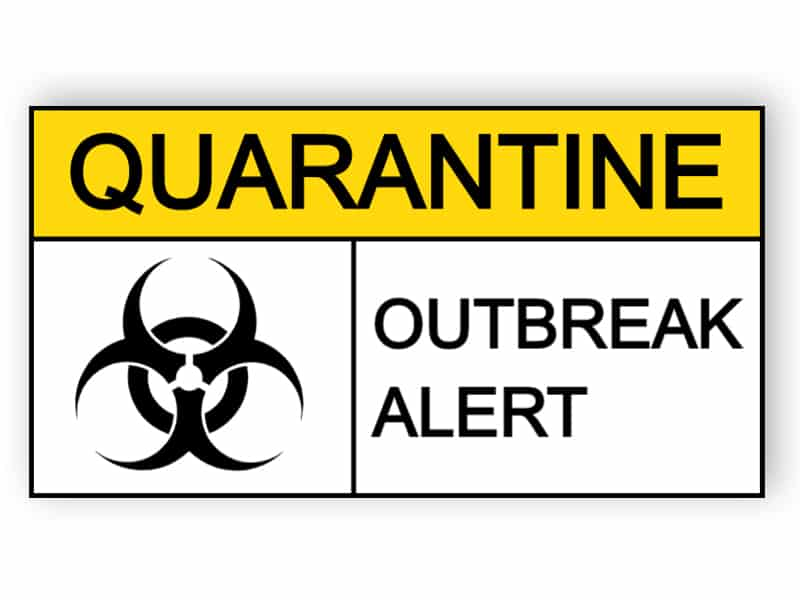 Quarantine - outbreak alert - sticker
