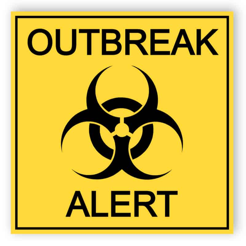 Outbreak alert - sticker