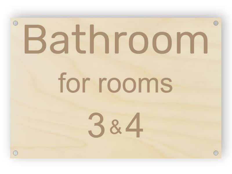Bathroom for rooms