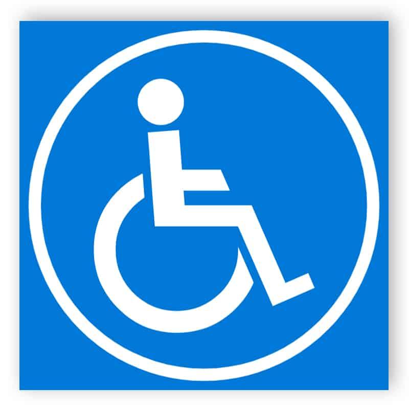 Blue disabled sign