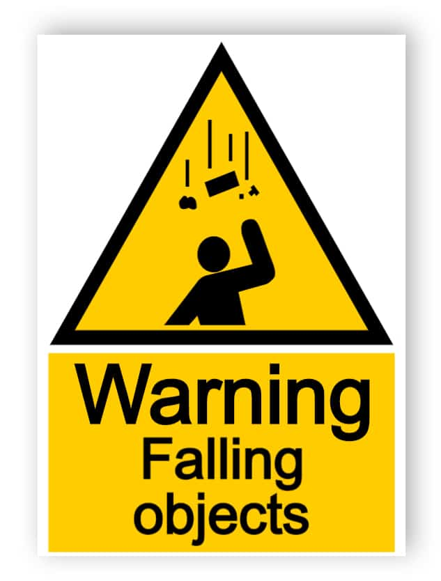 Warning - falling objects