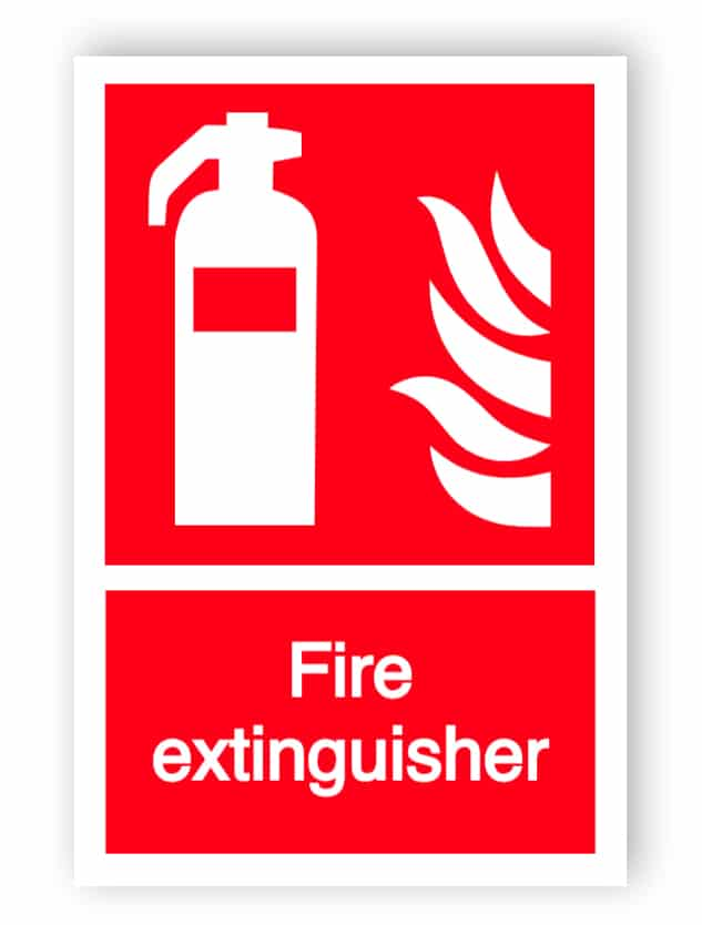 Fire extinguisher sign 3