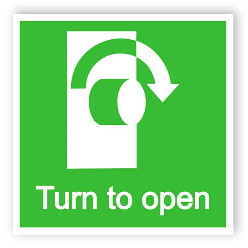 Turn to open sign 1