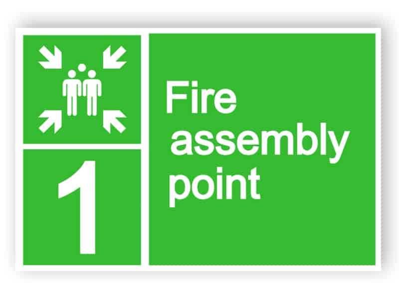 Fire assembly point sign 1