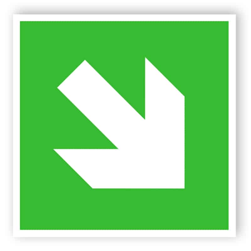 Diagonal arrow sign