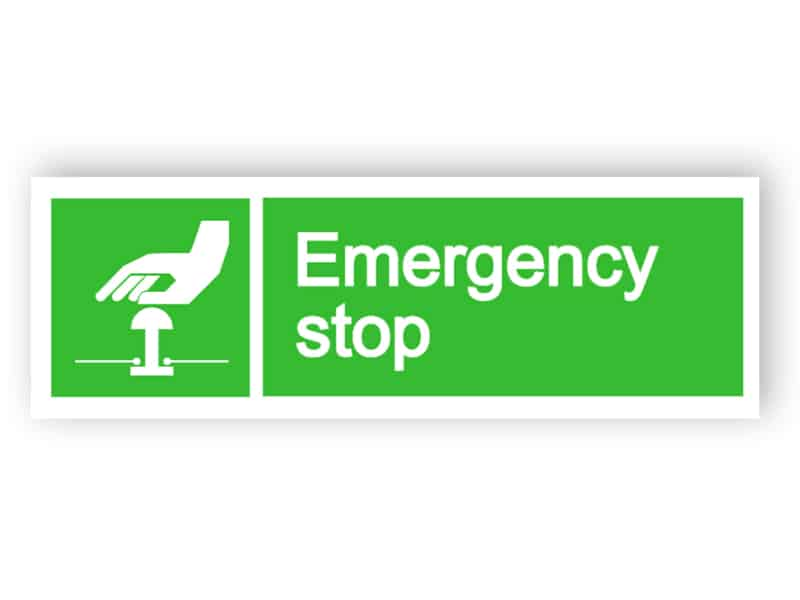 Emergency stop sign 1