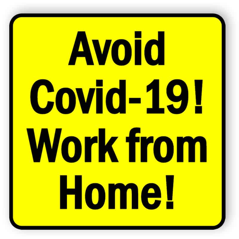 Avoid covid19 - work from home - sticker