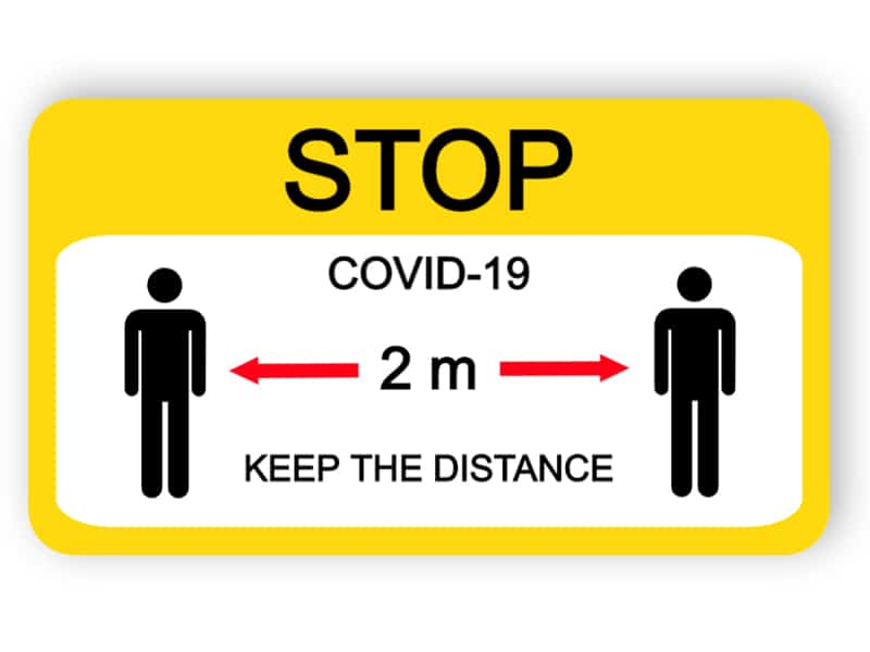 Keep the distance - sticker
