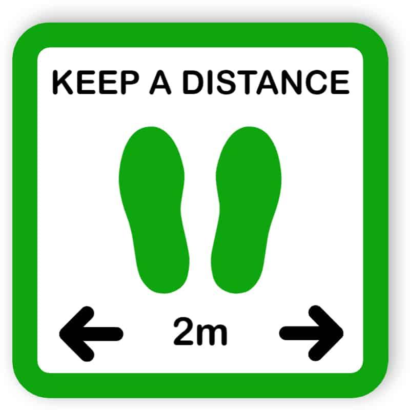 Keep a distance sign