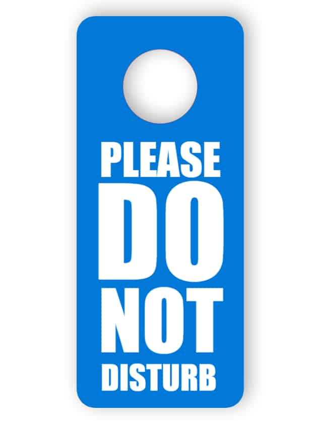 Do not disturb - blue door hanger