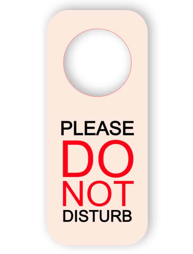 Do not disturb - printed plastic - door hanger
