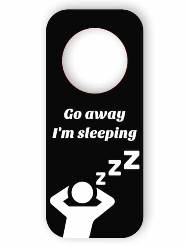 Do not disturb - black door hanger