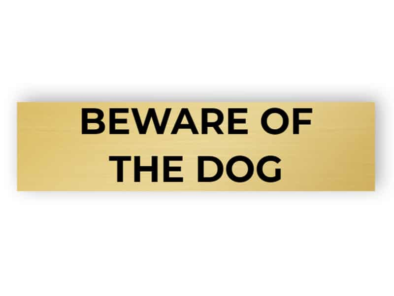 Be careful - dog inside