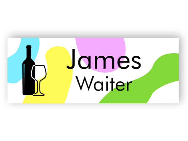 Colourful name tag