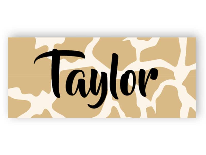 Name tag - animal print