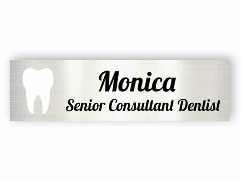 Aluminium name plate for dentist