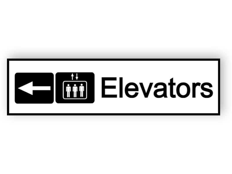 Aluminium elevators sign