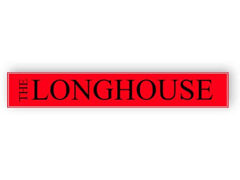 Red house name sign - Aluminium composite panel