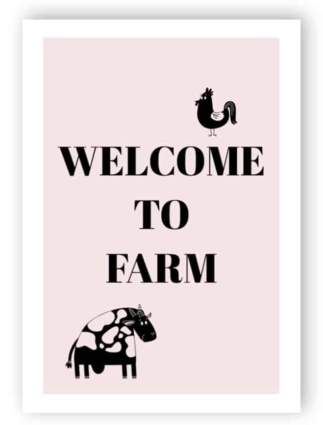 Welcome to farm sign - Aluminium composite panel