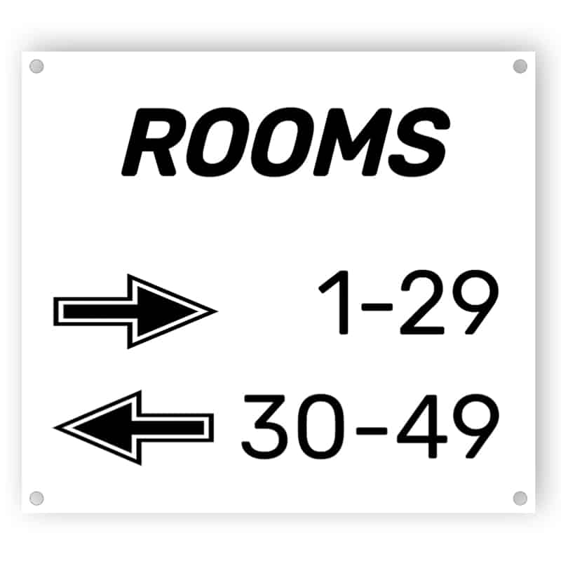 Door numbers - Aluminium composite panel