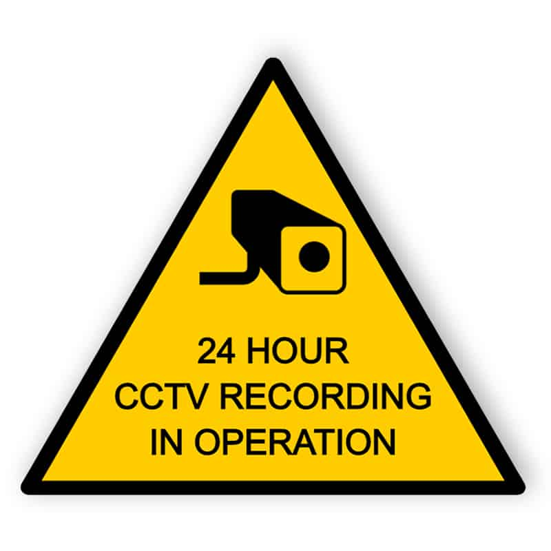 CCTV sign 24 hours recording - Aluminium composite panel