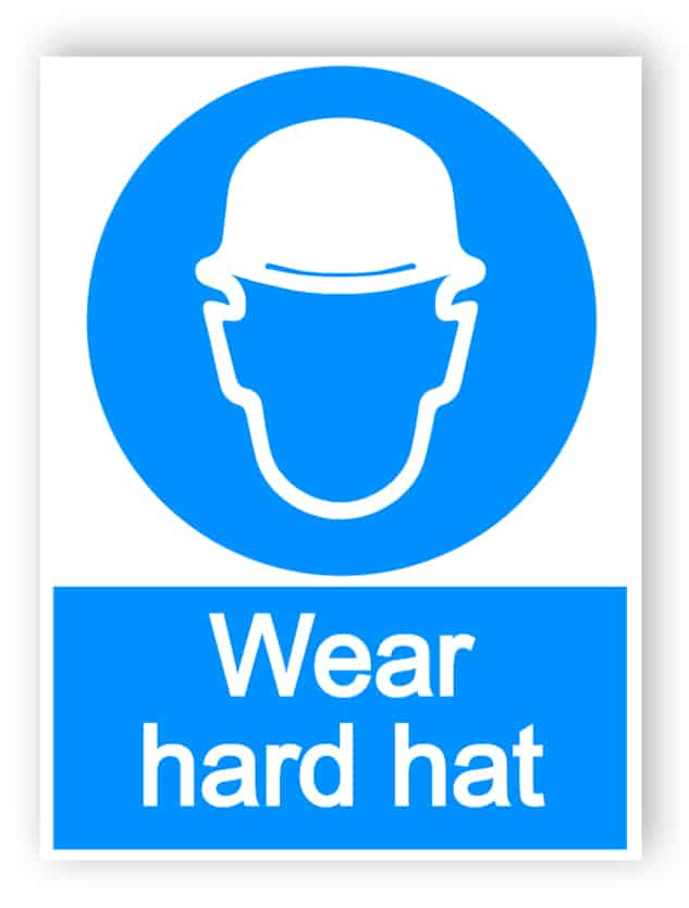 Wear hard hat - Aluminium composite panel