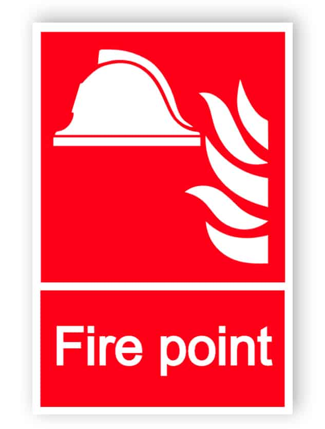 Fire point sign - Aluminium composite panel